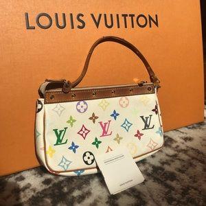 Louis Vuitton Multicolore studded pochette bag